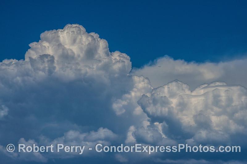 Cumulus clouds over the Santa Ynez range.