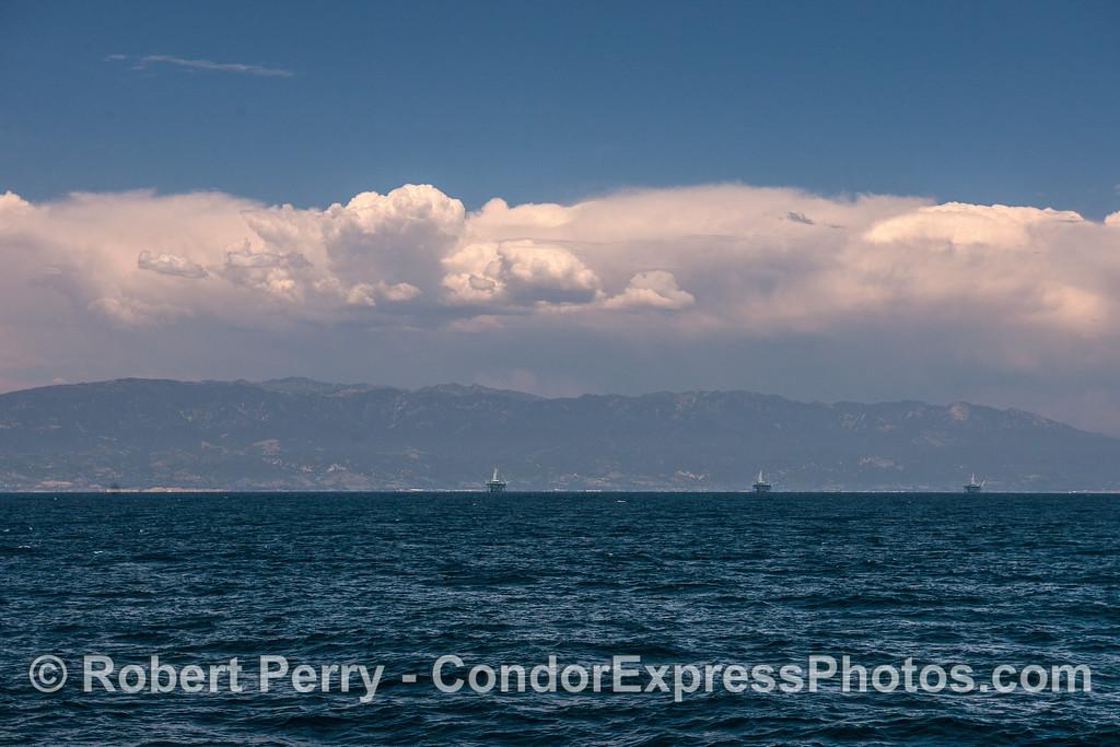 Clouds, Santa Ynez, Oil Platforms