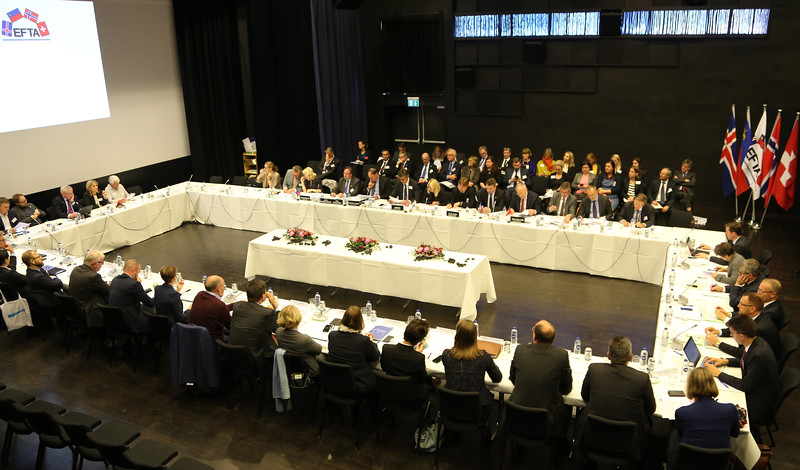 EFTA Ministers meet the EFTA Parliamentary Committee.