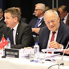 From left: Mr Högni S. Kristjánsson, Iceland's Ambassador in Geneva, Mr Guðlaugur Þór Þórðarson, Iceland's Minister of Foreign Affairs and foreign trade, Mr Johann N. Schneider-Ammann, Swiss Federal Councillor, Head of the Federal Department of Economic Affairs, Education and Research,  Swiss Ambassador Markus Schlagenhof.