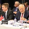 From left: Mr Högni S. Kristjánsson, Iceland's Ambassador in Geneva, Mr Guðlaugur Þór Þórðarson, Iceland's Minister of Foreign Affairs and foreign trade, Mr Johann N. Schneider-Ammann, Swiss Federal Councillor, Head of the Federal Department of Economic Affairs, Education and Research,  Swiss Ambassador Markus Schlagenhof.