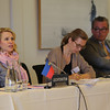 Liechtenstein's delegation, from left: Ms Aurelia Frick, Minister for Foreign Affairs, Justice and Culture; Ms Sabine Monauni, Ambassador to the EU, Ambassador to the EU; Dr Peter C. Matt, Ambassador to international organisations in Geneva.