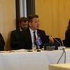 Icelandic delegation, from left: Högni S. Kristjánsson, Ambassador and Permanent representative in Geneva; Guðlaugur Þór Þórðarson, Minister for Foreign Affairs and External Trade; Bergdís Ellertsdóttir, Ambassador to the EU.