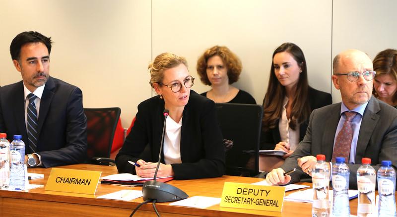 Ambassador Sabine Monauni Chairing the meeting of the EFTA Standing Committee on 05.07.2017