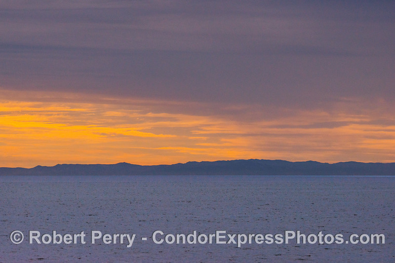 Orange skies over Anacapa Island.
