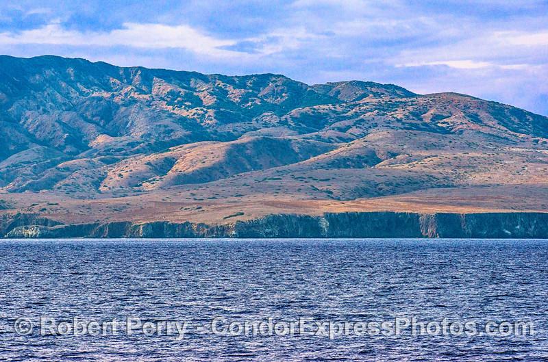 Northeastern Santa Cruz Island hills and sea cliffs.