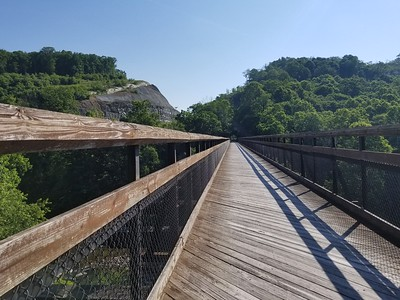Heading out of Confluence, PA on the GAP