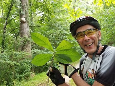 """He stood in the middle of the trail yelling """"Paw Paw"""". We learned a lot about Paw Paw's this trip. Paw paw John is amazing."""