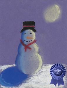 """Jaylyn Bradley, Grand Prize Winner  West Hartsville Elementary School """"The Snowman"""""""