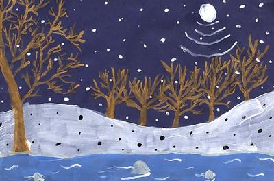 """Vincent Yang Spaulding Elementary School """"The Winter Landscape"""""""