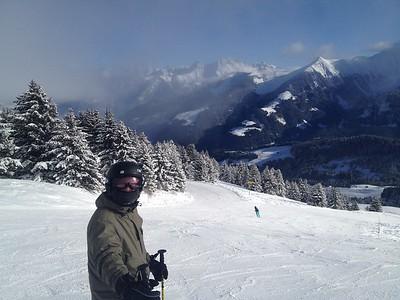 Dave skis Switzerland
