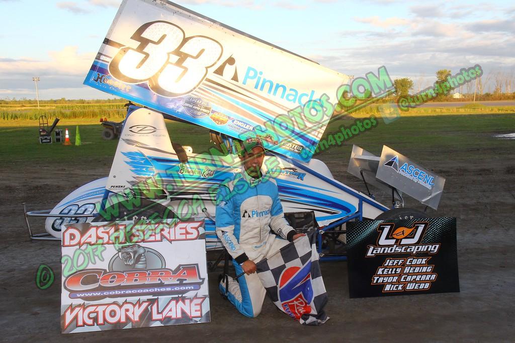 Brandon Kidd ESS Sprint Dash Winner Sept 9 - 1