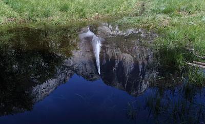 DA061,DT, Waterfall Reflection, Yosemite N P  California