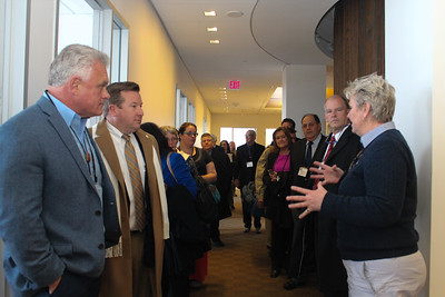 AFBF Senior Director of Congressional Relations, Mary Kay Thatcher, speaks to Louisiana Farm Bureau members during a tour of AFBF headquarters in Washington D.C.