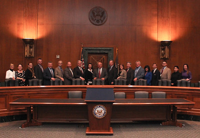 LFBF staff group photo in the Dirksen Senate Office Building.