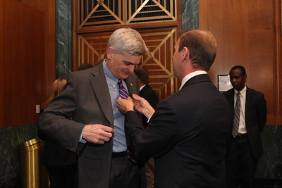TWILA's Avery Davidson 'mikes up' Senator Bill Cassidy for a quick interview.