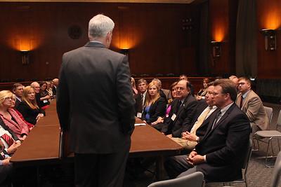 LFBF Secretary-Treasurer Mike Melancon asks Senator Cassidy about the 2018 Farm Bill.