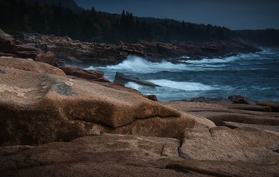 Stormy coast of Maine