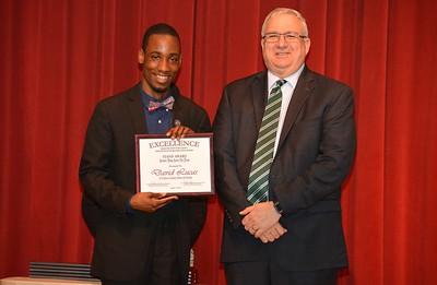 David Lucas accepts a 2017 STAND Award from DCSD Superintendent Dr. Eddie Ingram.