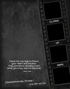 Film Strip Grunge - Full Page Template #1