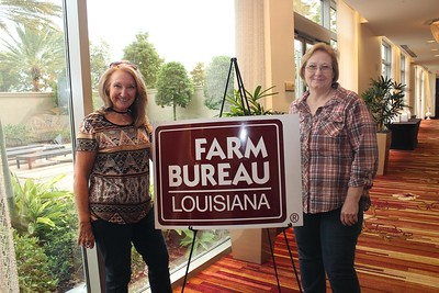 On October 20, 2017, Dorothy Johnson, left,  and Jill Devillier, right, of Avoyelles Parish attended the Louisiana Farm Bureau's Women's Leadership Conference Fall Conference in Baton Rouge, Louisiana.