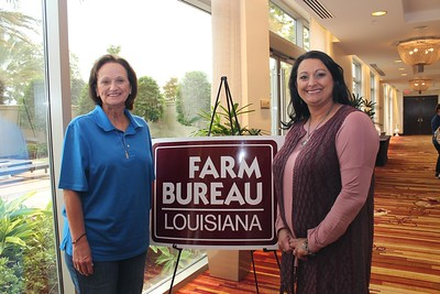 On October 20, 2017, Louisiana Farm Bureau Women's Leadership Committee District XI Director and Lafourche Parish Chair Margaret Babin, left, and Nicole Foret, right, attended the Louisiana Farm Bureau's Women's Leadership Conference Fall Conference in Baton Rouge, Louisiana.