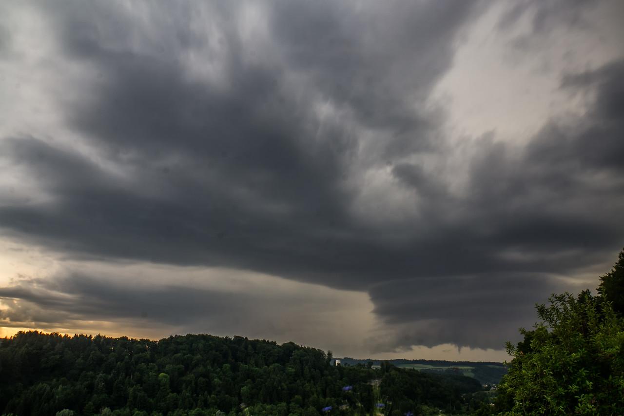 Rotierendes Gewitter aus Westen