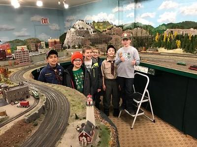 20170116 - Webelos 1 Visit Railroad Modelers