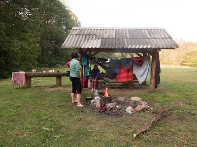 Camping by Ūla river