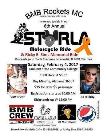 6 Annual Starla Charity Ride