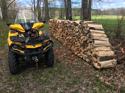 DOUG'S NEWEST WOODPILE FOR MAPLE SYRUP TIME