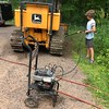 PRESSURE-WASHING THE BULLDOZER FOR GRANDPA