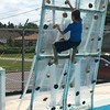 CLIMBING THE WALL AT THE MEDFORD POOL