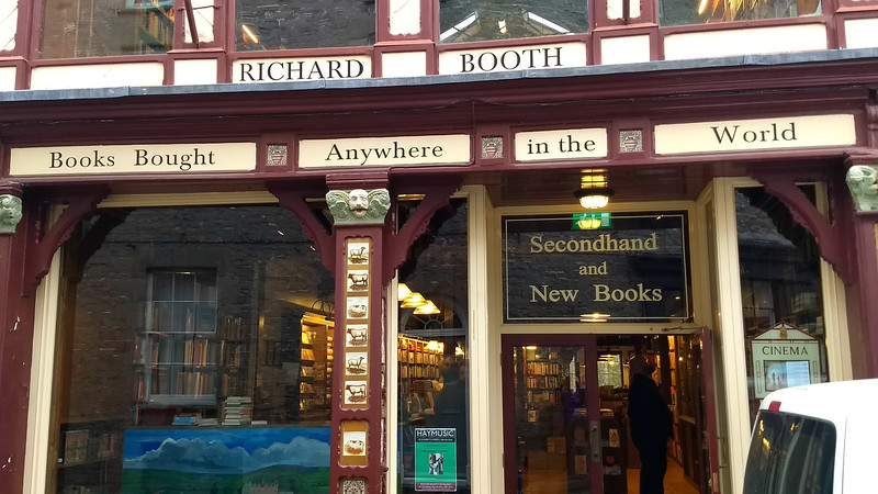 One of many bookshops in Hay on Wye