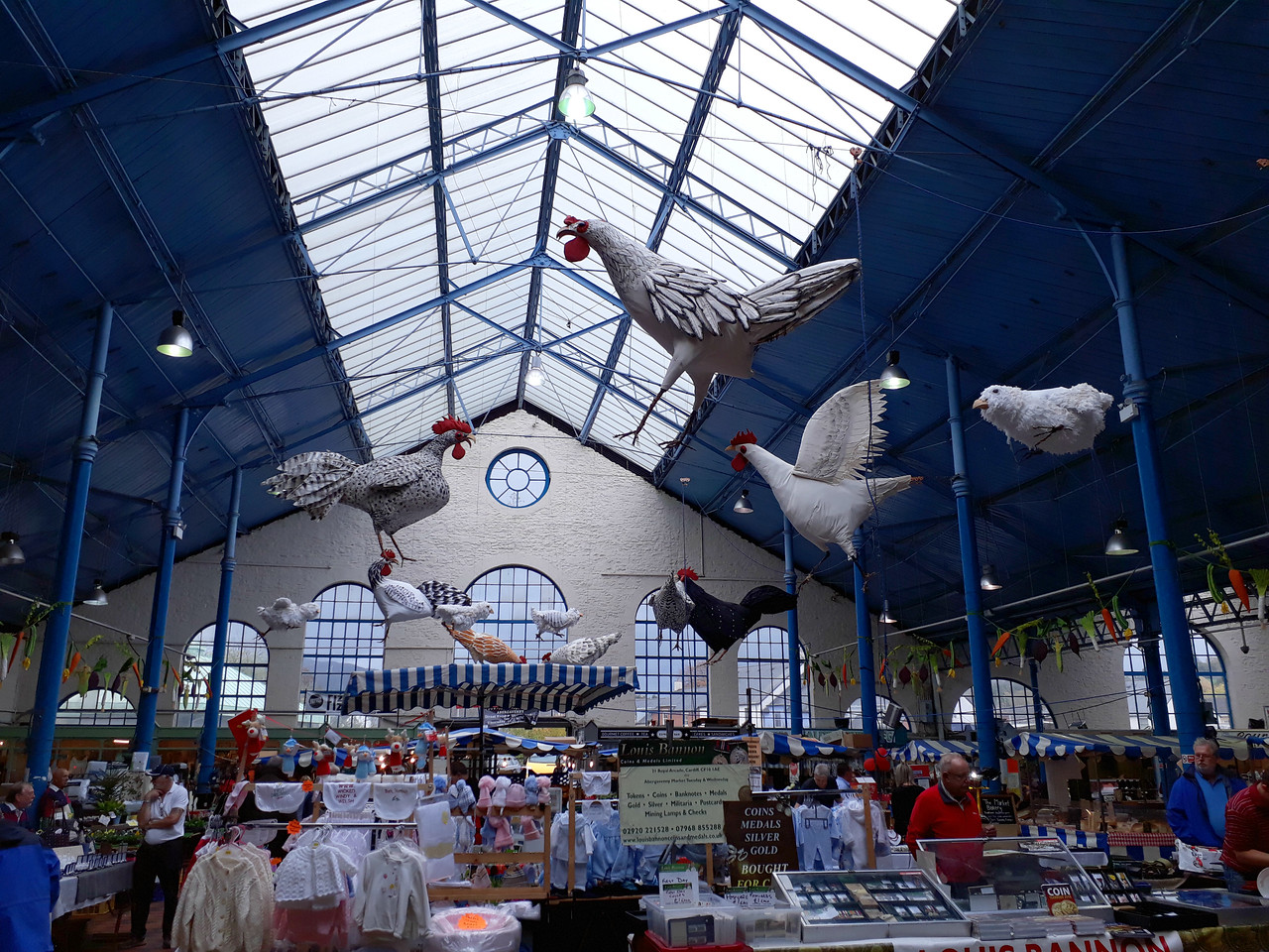 Indoor market in Abergavenny