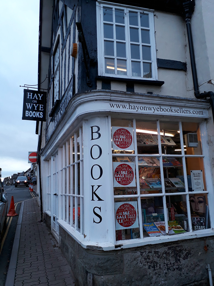 in Hay on Wye, the town of books