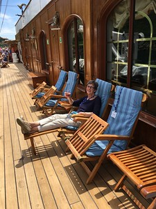 Relaxing on Sea Cloud II-Bridget St. Clair