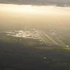 London Gatwick airport seen from my departing flight to Copenhagen.