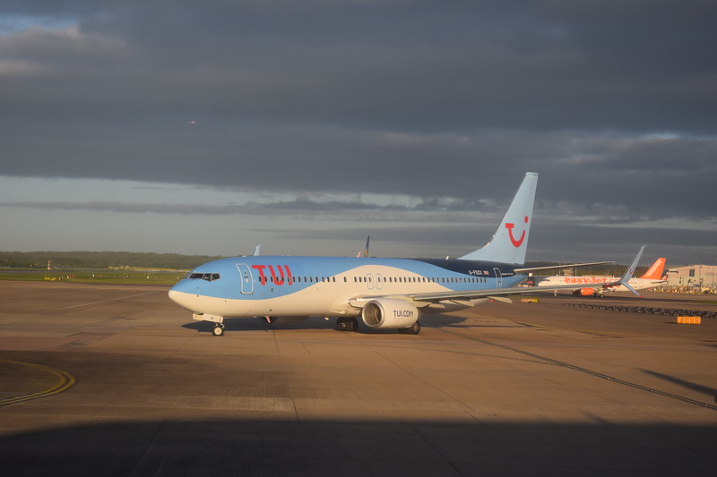 TUI Boeing 737-800 G-FDZX at London Gatwick airport.