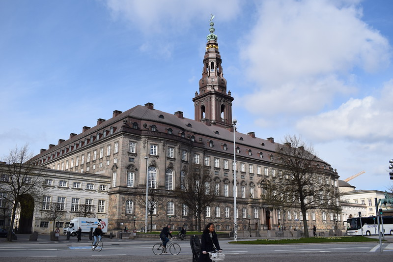 The Christiansborg Palace, seat of the Danish Parliament.