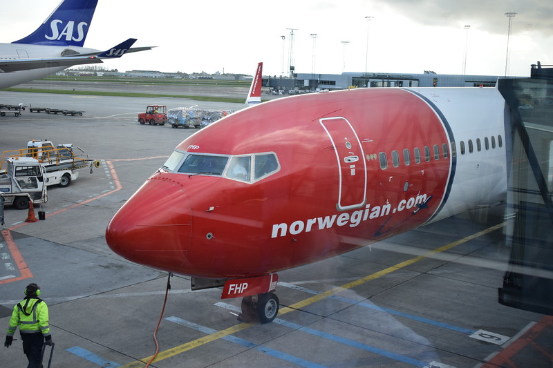 Norwegian Air International Boeing 737-800 EI-FHP at Copenhagen Airport with my flight D82909 to London Gatwick.
