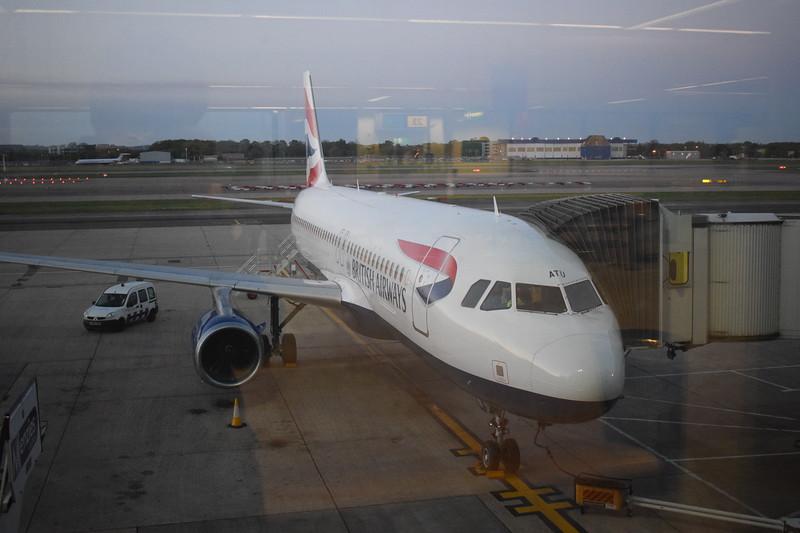 British Airways Airbus A320 G-GATU at London Gatwick airport.