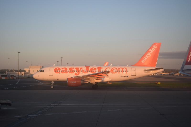 EasyJet Airbus A319 G-EZAK at London Gatwick airport.
