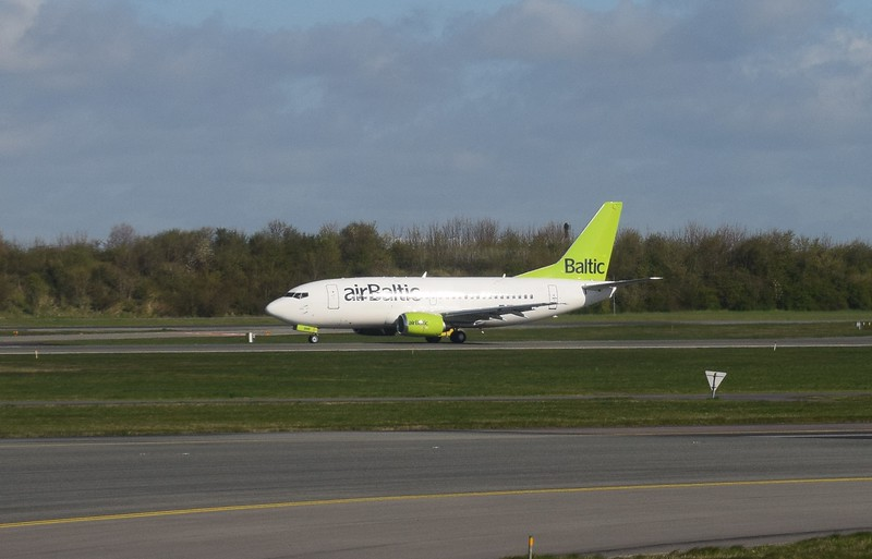 Air Baltic Boeing 737-300 at Copenhagen Airport.
