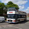 Ex Judds open top ECW Bristol VR BKE861T at the Wellingborough running day.