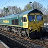 Freightliner Class 66 no. 66525 passing Wolverton on a Bletchley stone train.