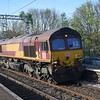 DB Cargo Class 66 no. 66065 passing Wolverton on a freightliner.