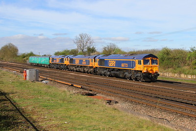 66773 Worting Junction 10/04/17 5Y62 Eastleigh to Peterborough with 66760 and 66776