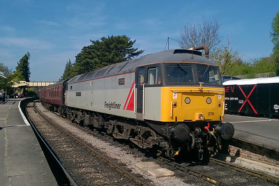 47376 catches some Spring sunshine at Winchcombe as it pauses with the 1205 from the Race Course to Toddington (09/04/2017)