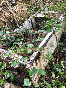 "Kids told me they discovered a ""mine cart"" in the ravine. Turns out it's an old fridge with no door, still full of bottles"